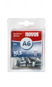 A6 4 x 10,5 mm M4 aluminiu 10 bucăți