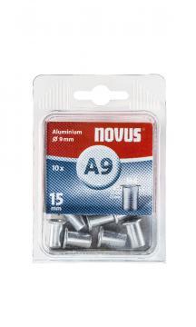 A9 6 x 15 mm M6 aluminiu