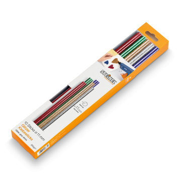Batoane lipire cu sclipici ∅ 11 mm 10 ea. (200 g)