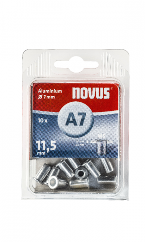 A7 5 x 11,5 mm M5 aluminiu 10 bucăți
