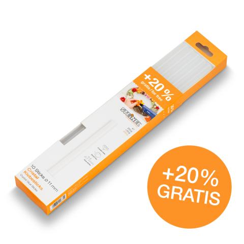 Batoane lipire Ø 11 mm Cristal 10 ea. (300 g)