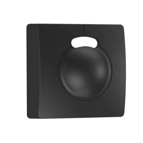 Capac decorativ negru pentru HF 3360 aparent, pătrat