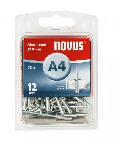 A 4 x 12 mm aluminiu 70 bucăți