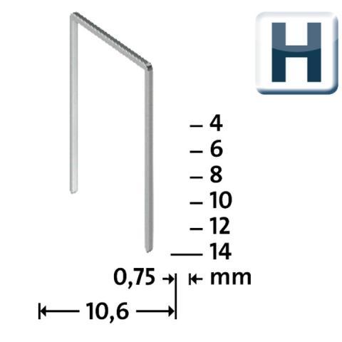 Tip H 37/4 mm Foarte tari Zincate 2000 bucăți