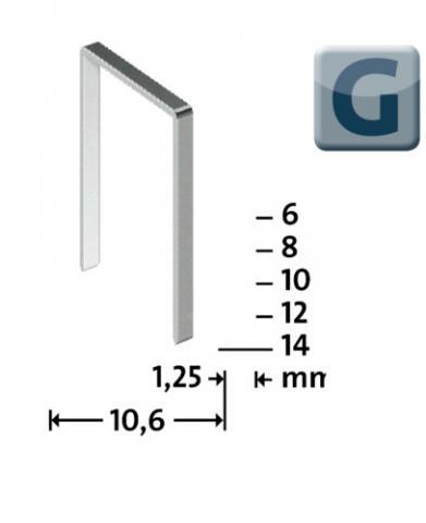 Tip G 11/14 mm Zincate 600 bucăți