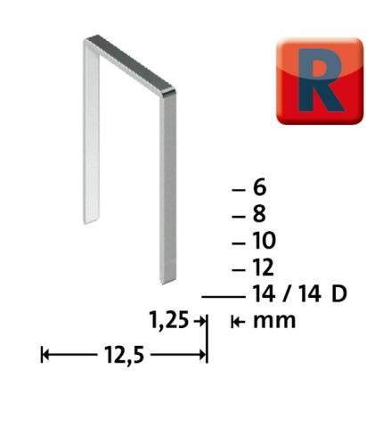 Tip R 50/6 mm zincate 960 bucăți