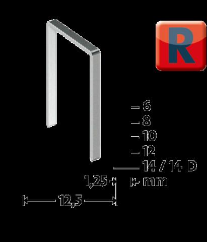 Tip R 50/8 mm zincate 960 bucăți
